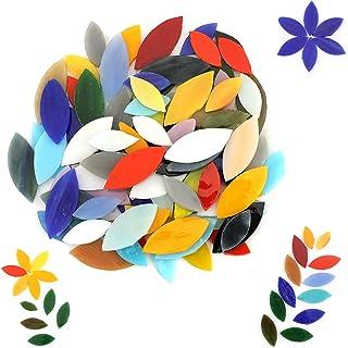 LUTER 100 Pièces 2 Tailles Mosaïque Carrelage, Verre Carreaux pour L'artisanat D'art Bricolage, Décoration de la Maison