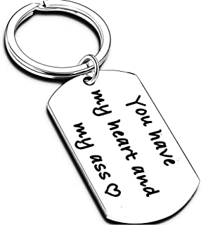 Funny Keychain for Boyfriend Husband Gifts from Girlfriend Wife Anniversary Naughty Message Gift Idea for Men Him Fiance