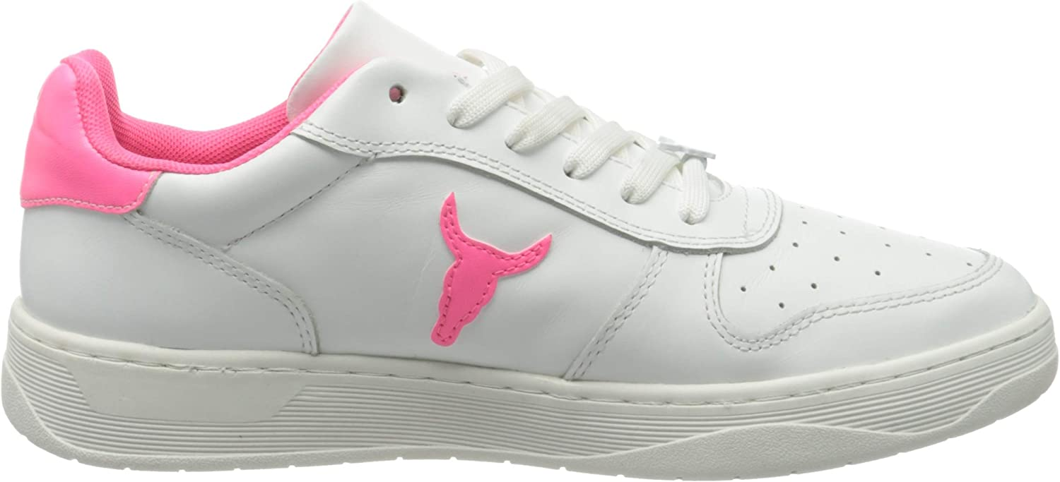 Windsor Smith POP Women's Universe W Brave Gymnastics Shoe White Neon Pink White jXSCEB