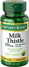 Nature's Bounty Milk Thistle Pills and Herbal Health Supplement, Supports Liver Health, 175mg, 100 Softgels