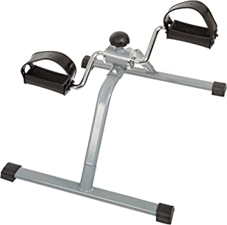 Wakeman Portable Fitness Pedal Stationary Under Desk Indoor Exercise Machine Bike for Arms, Legs, Physical Therapy or Calorie Burner, Black,Gray (80-5112)