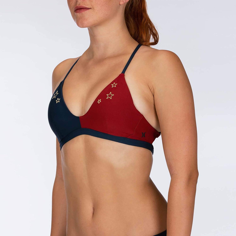 Hurley Womens Quick Dry Stars Bralette Surf Top Bikini Top