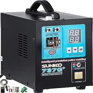 Mophorn 737G+ Pulse Spot Welder 0.35mm Battery Welding Machine 110V Battery Spot Welder and Soldering Station Portable Pulse Welding Machine for Battery Pack 18650 14500 Lithium Batteries