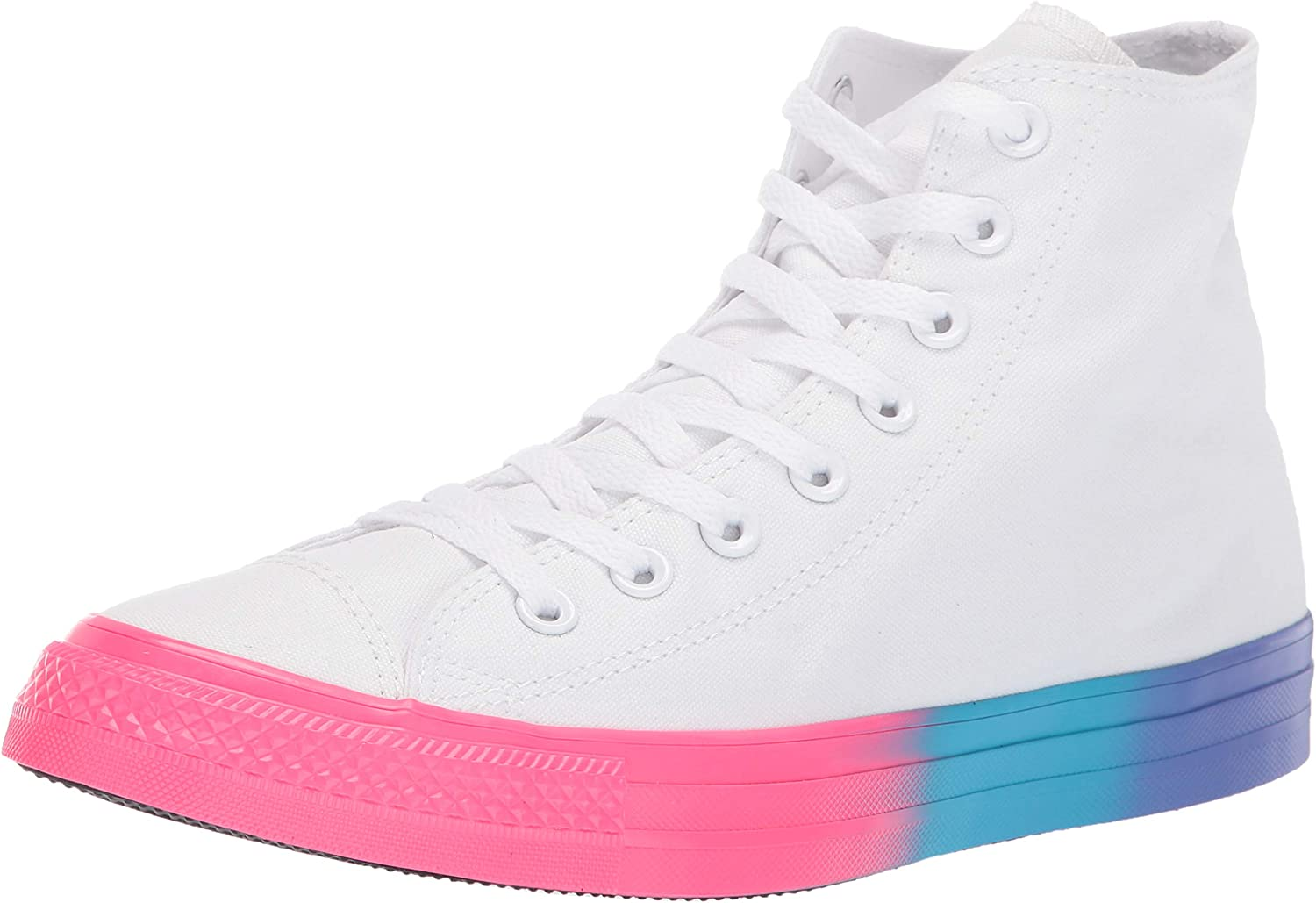 Converse Unisex-Adult Kids' Chuck Taylor All Star Rainbow Midsole High Top Sneaker