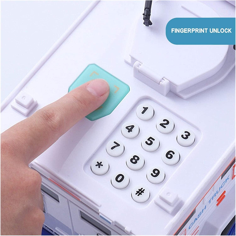 Fingerprint Password Cash Truck Car Piggy Bank Kids Money Box Coin Paper forGift