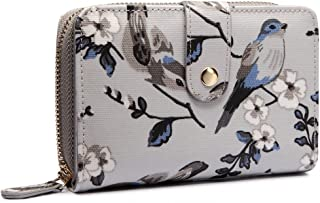 Miss Lulu Women Flower Bird Horse Purse Oilcloth Short Bifold Wallet Clutch Bag
