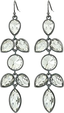 GUESS - Stone Flower Cluster Drop Earrings