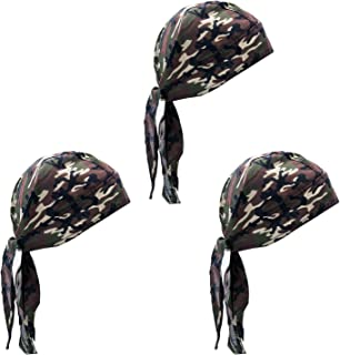 Elephant Brand Skull Caps – 100% Cotton in Patterned and Plain Colors, Pack of 3