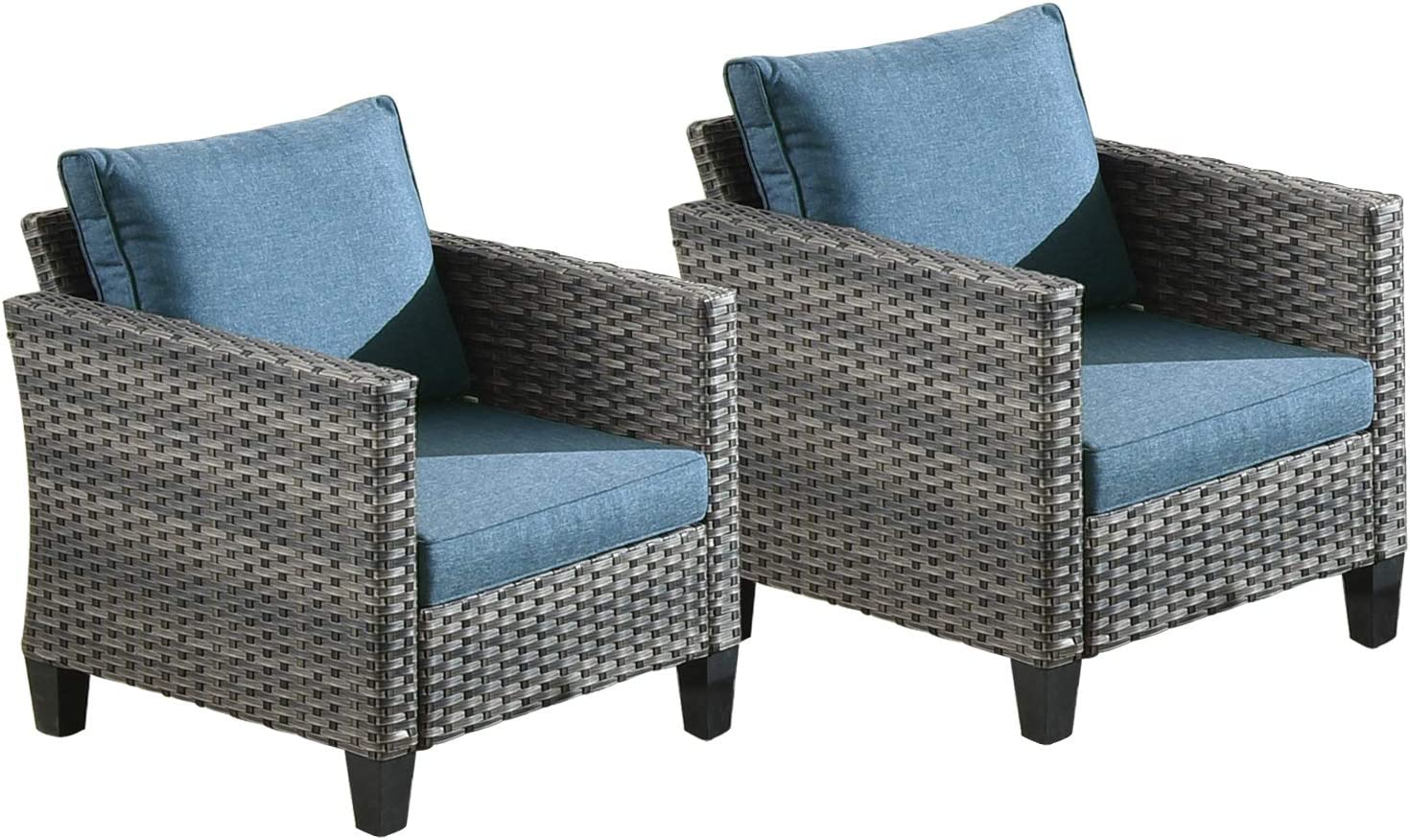 Ovios Patio Furniture Direct store shipfree Sets 2 PCS Chai Wicker Rattan Porch Chairs