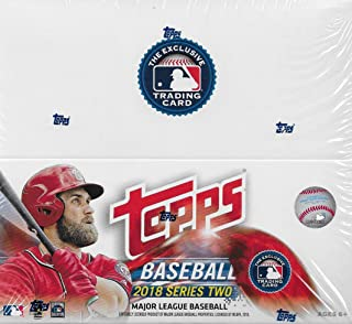 2018 Topps MLB Baseball Series Two Unopened Factory Sealed Retail Box with 24 Packs of 12 Cards each (288 cards total)