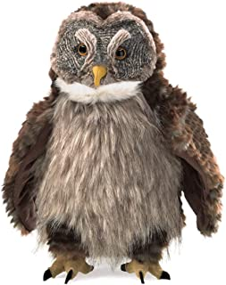 Folkmanis 3135 Hooting Owl Hand Puppet, One Size, Multicolor