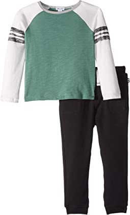 Long Sleeve Raglan Shirt Set (Toddler)