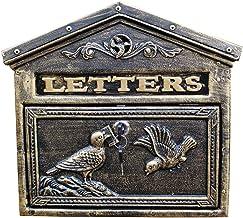 Brievenbus Retro buiten mailbox, vakantie op de boerderij tuin hangslot brievenbus, oud gesneden patroon, roest- en weer m...
