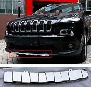 Wotefusi Car New ABS Electroplating Front Bumper Protector Plate Guard For Jeep Cherokee 2013-2016 2014 2015