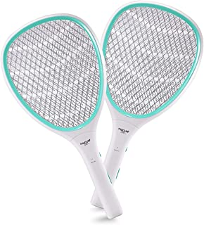 Faicuk 2-Pack Handheld Bug Zapper Racket Electric Fly Swatter Mosquito Killer