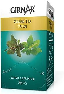 Sponsored Ad - Girnar Green Tea With Tulsi (Basil Leaves) (36 Tea Bag)