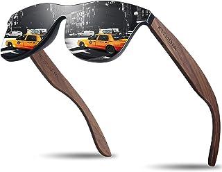 KITHDIA Polarizadas Unisex Gafas De Sol Hombre/Mujer UV400 Protección Gafas De Sol De Madera S5029