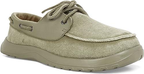 Doux Science pour Homme Homme Homme Cruise Kaki, Classique sur Toile Deck Chaussures Style 27b