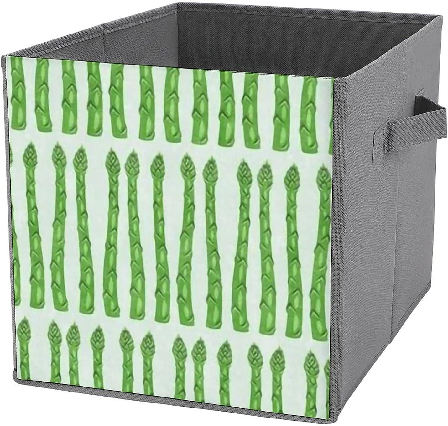 MMJUI Asparagus Light Mint trust Folding Fabr Bins Storage Collapsible Over item handling ☆