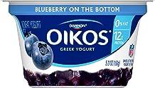 Dannon Oikos Fruit on the Bottom Nonfat Greek Yogurt (Blueberry), 5.3 oz.