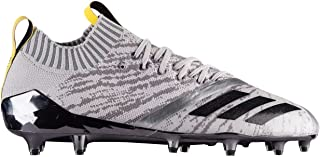 Adizero 5-Star 7.0 Primeknit Football Cleats (11, Grey/Core Black/Vivid Yellow)