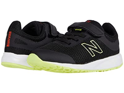 New Balance Kids 455v2 (Infant/Toddler) (Black/Neo Flame) Girls Shoes