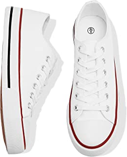 Adokoo Women's High Top Canvas Sneaker Shoes Classic Fashion Lace ups Sneakers