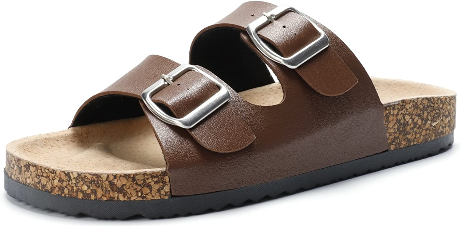 Sandalup Unisex Adjustable Double Buckle Flat Sandals