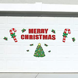 Festive Holiday Merry Christmas Garage Door Decoration 25 Piece Magnets Set