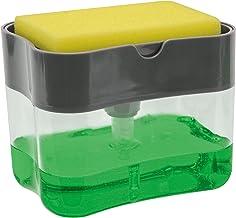 S&T Soap Pump Dispenser & Sponge Holder Grey