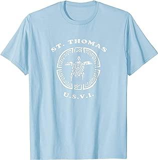 St. Thomas USVI T-Shirt Vintage Tribal Turtle Gift TShirt