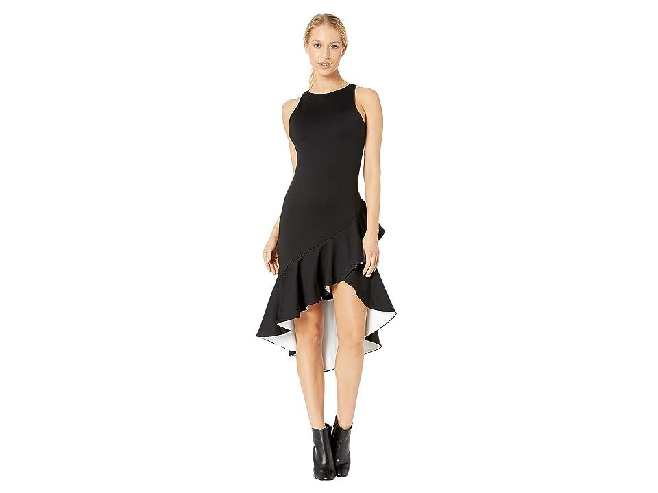 Susana Monaco - Susana Monaco Contrast Ruffle Sleeveless Dress