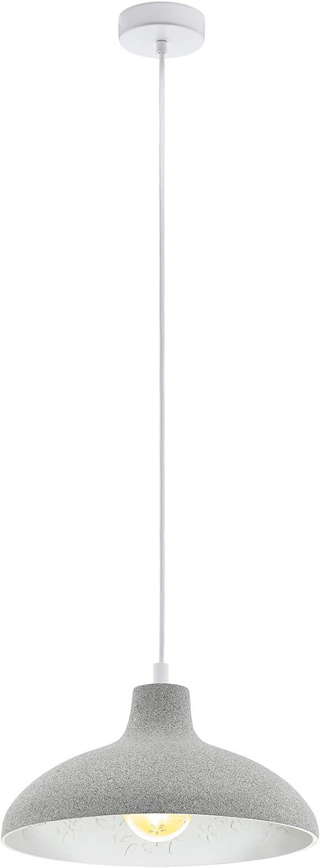 EGLO BARROWBY Hngeleuchte, Stahl, 60 W, grau, weiss