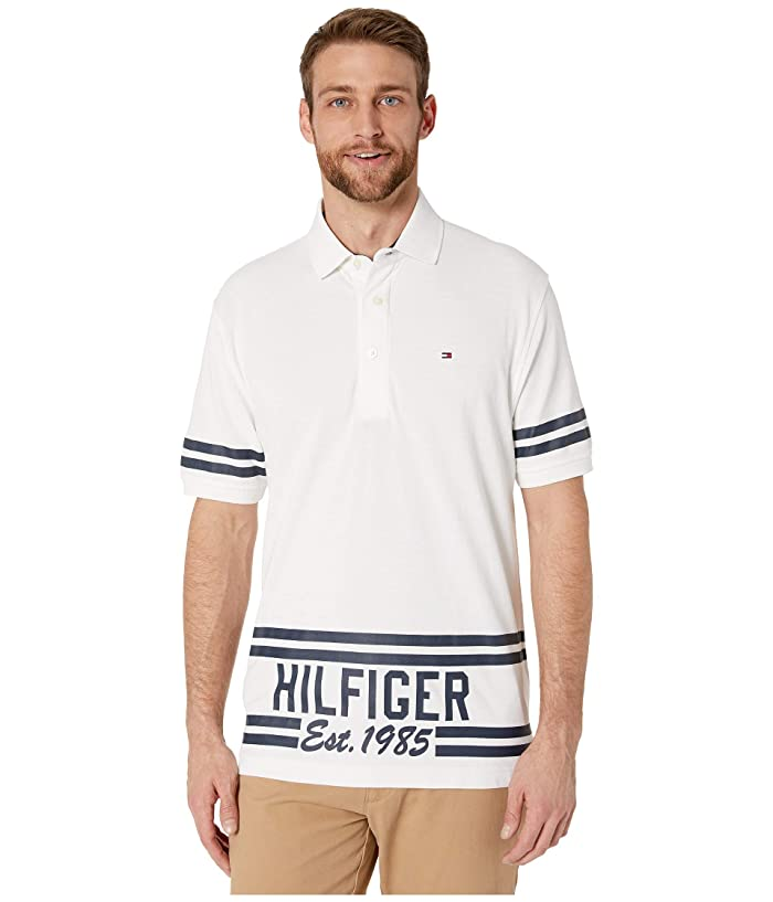 Tommy Hilfiger Adaptive  Custom Fit 1985 Polo (Bright White) Mens Clothing