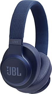 JBL Live 500BT Wireless Over-Ear Voice Enabled Headphones (Blue)