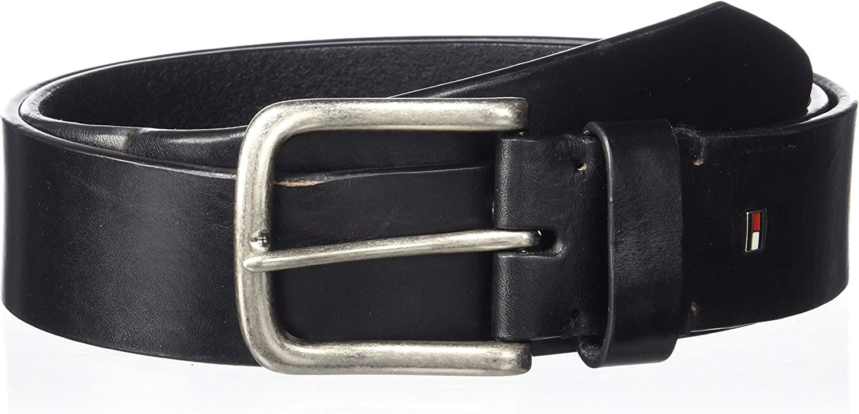 Tommy Hilfiger Men's Harness Buckle 35mm Stiched Edge Belt