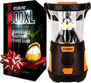 2-in-1 rechargeable camping lantern gold