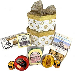Gourmet Cheese Gift Basket Sampler - Holiday Cheese Cracker 2 LB. Assortment
