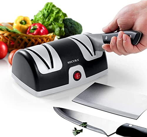 discount Secura Electric Knife discount outlet sale Sharpener, 2-Stage Kitchen Knives Sharpening System Quickly Sharpening outlet online sale