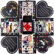 PartyTalk Creative Explosion Box DIY Handmade Photo Album Scrapbooking Surprise Gift Box for Valentines Day Wedding Engage...
