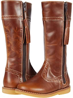 Girls Leather Riding Boots + FREE