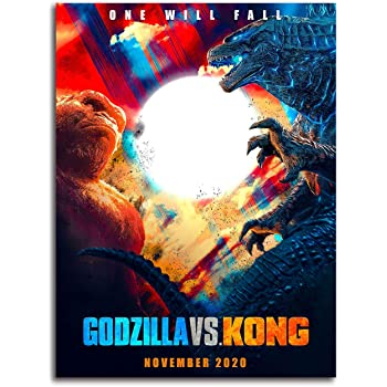 Amazon Com Godzilla Vs Kong Office Wall Decor Artwork Art 18 X 24 Movie Poster King Of The Monsters Art Poster Chic Office Art Unframed Frameable Posters Prints