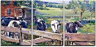 wall26 - Landscape with Cows in Saxony- Canvas Art Wall Decor - 16