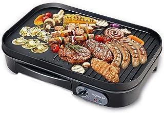 Aigostar Teplo 30CER - Plancha de asar y grill 2 en 1, antiadherente, 1800 watios, selector de temperatura, Fácil de desmontar, Fácil de limpiar. Diseño exclusivo.