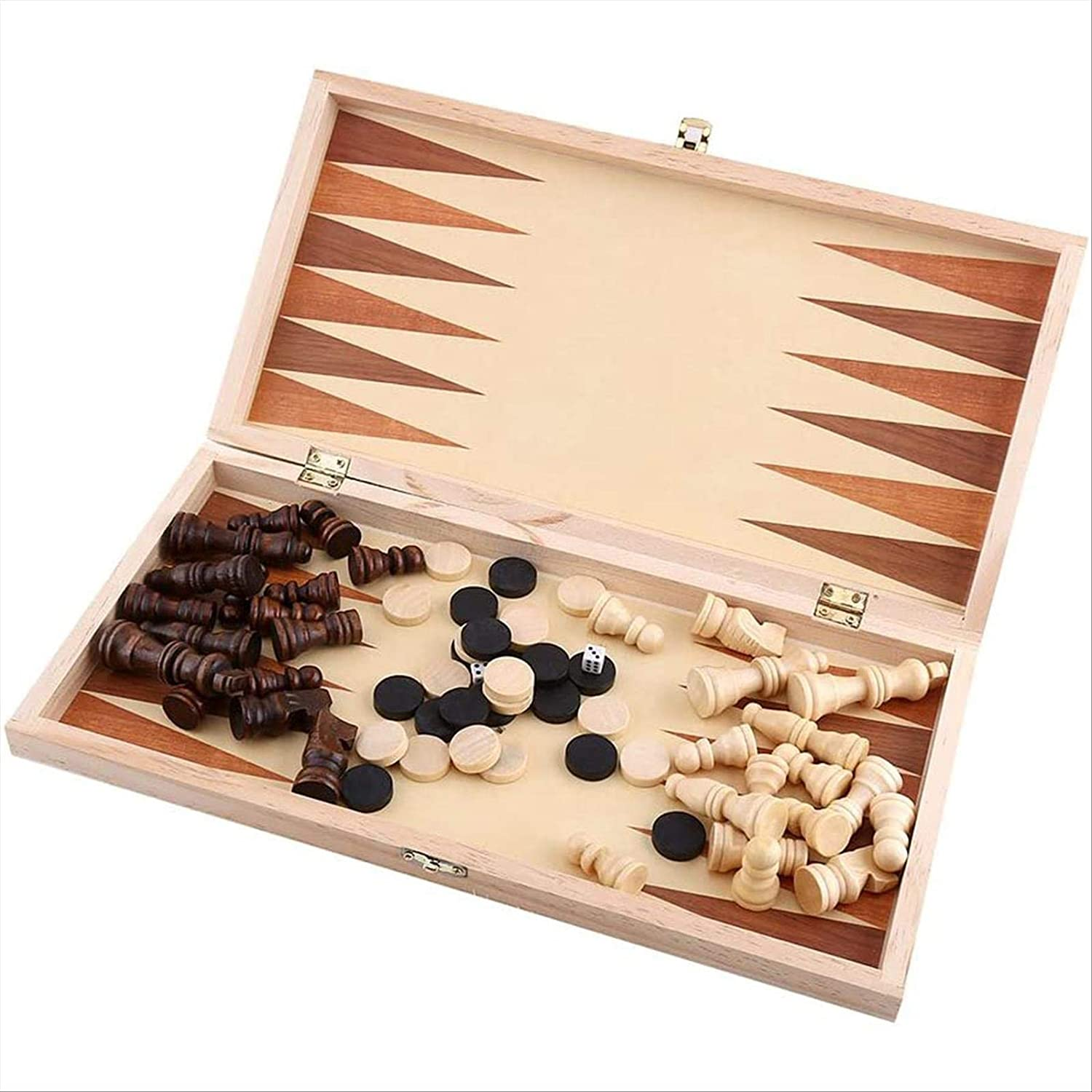 2021new shipping free ZJYZJQ NEW before selling Portable Wooden Chess Folding Set Board