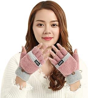 Gant Gant Femme Gants Moto Unisex Men Women//Gloves Bicycle Outdoor Wool Brushed lHalf-Ringer Over Gloves Driving Glove Warm Glove