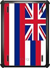 DistinctInk Case Compatible with iPad 2017 (5th / 6th Gen) - Custom Black OtterBox Defender with Stand, Screen Protector - Hawaii State Flag - US State Flag