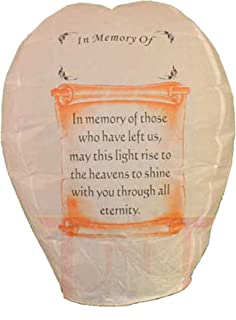 5 Each SKY Lantern -In Memory Of- US Seller -100% Biodegradable Fully Assembled by Sky Lanterns