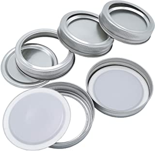 Canning Lids and Bands Regular Mouth 24 Pack Wide Mouth Canning Lids For Mason Jar 70MM Split-Type Lids Leak Proof and Sec...