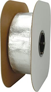 """Design Engineering 010420B50 1-1/2"""" I.D. x 50ft Spool Aluminized Sleeving for Ultimate Heat Protection"""